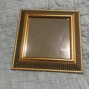 """Other - Small decorative gold mirror.  9"""" x 9"""""""
